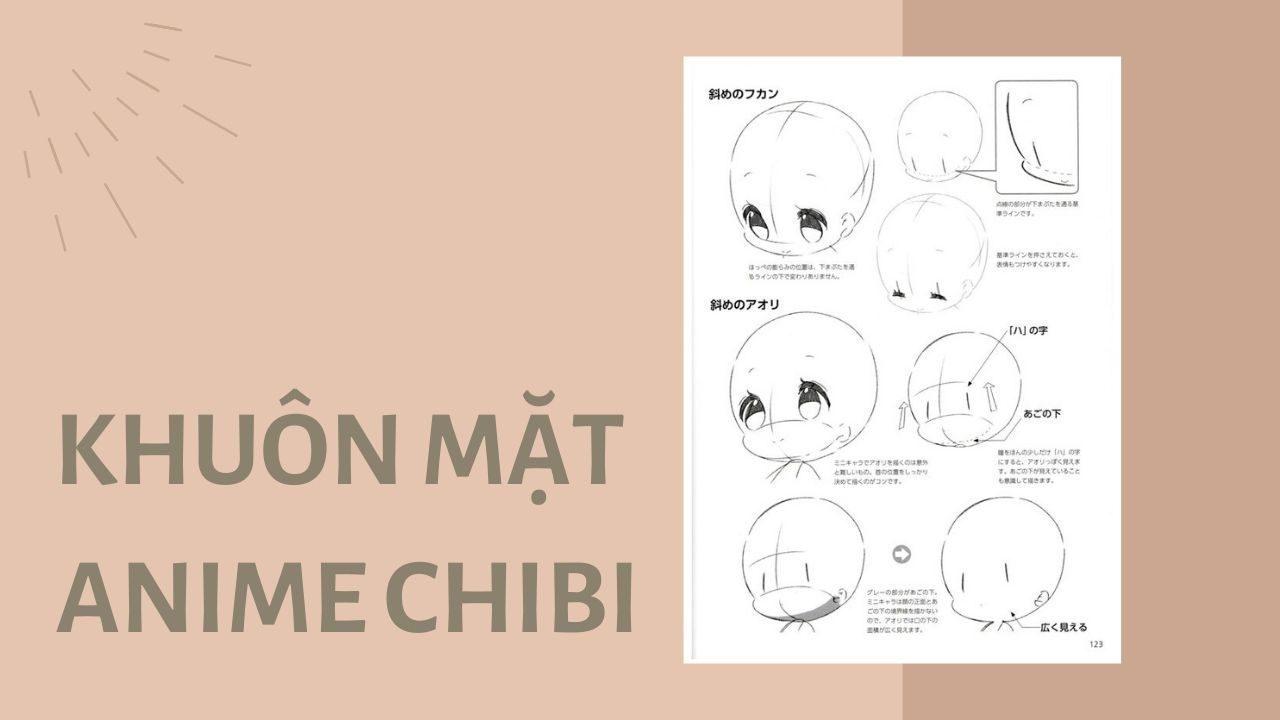 Vẽ khuôn mặt anime chibi