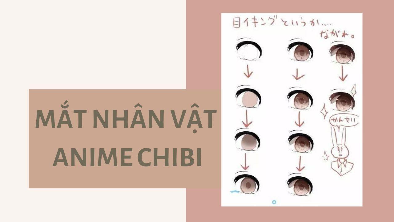 Vẽ mắt anime chibi