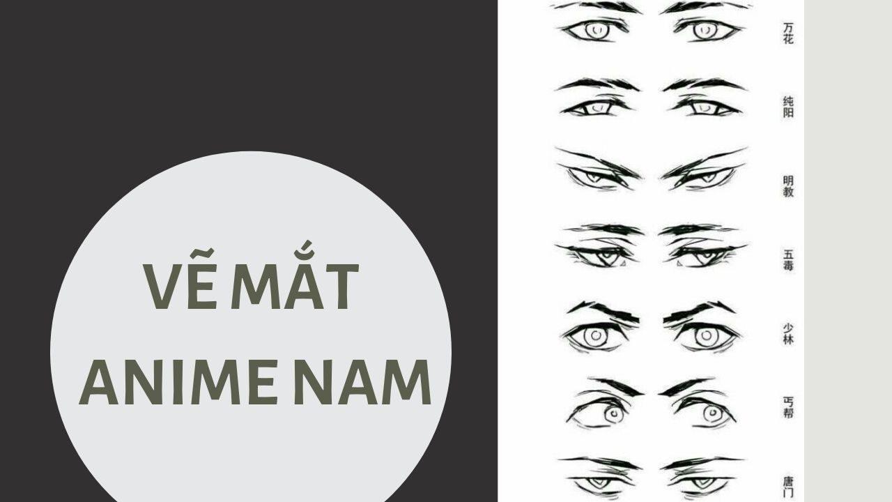 Vẽ mắt anime nam