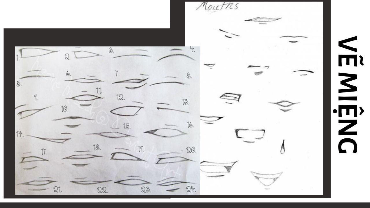 Vẽ miệng anime