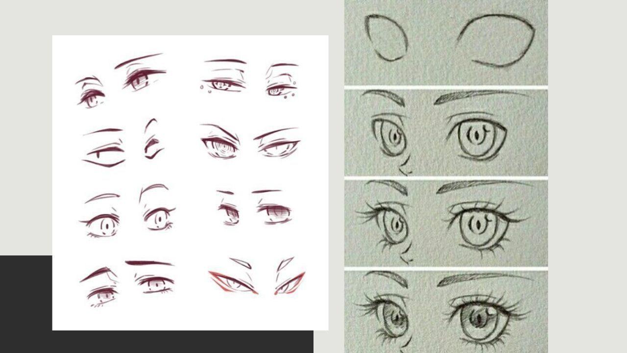 Cách vẽ mắt và lông mày