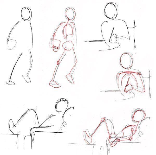 cách vẽ dáng người cơ bản