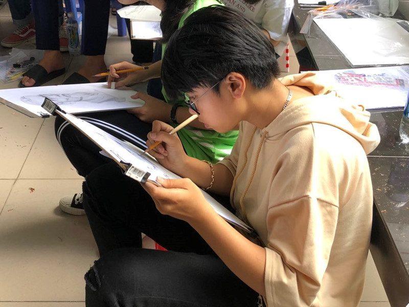 Kì thi năng khiếu vẽ tại trường đại học Kiến Trúc Tp. Hồ Chí Minh