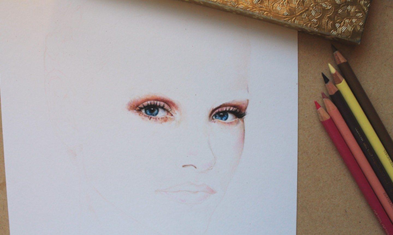 Vẽ chân dung bằng chì màu
